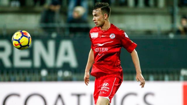 Huser im Einsatz beim FC Winterthur.