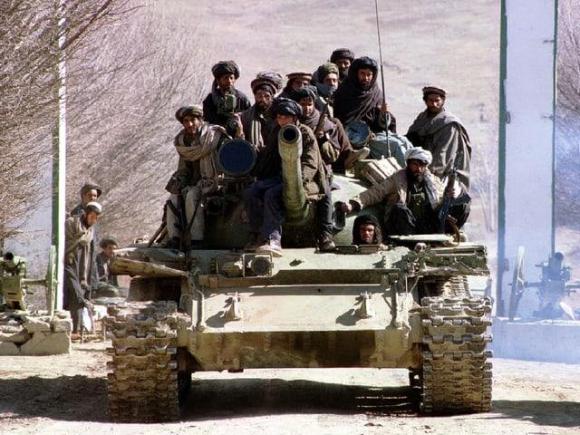 Taliban-Kämpfer in Kabul, 1996