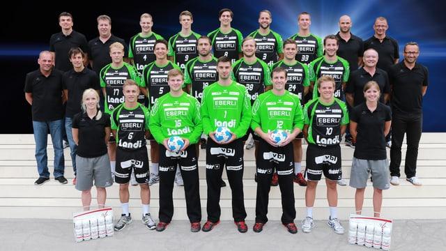 Das Team des HC Kriens-Luzern der Saison 2013/14.