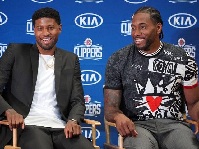 Paul George und Kawhi Leonard lassen die Clippers schon vor dem Saisonstart träumen.