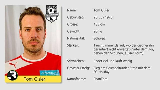 War einst eine grosse Hoffnung beim FC Stäfa: SRF 3 Moderator Tom Gisler.