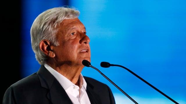 Andrés Manuel López Obrador schloss Wahlkampagne im Azteken-Stadion im Mexiko-City ab.