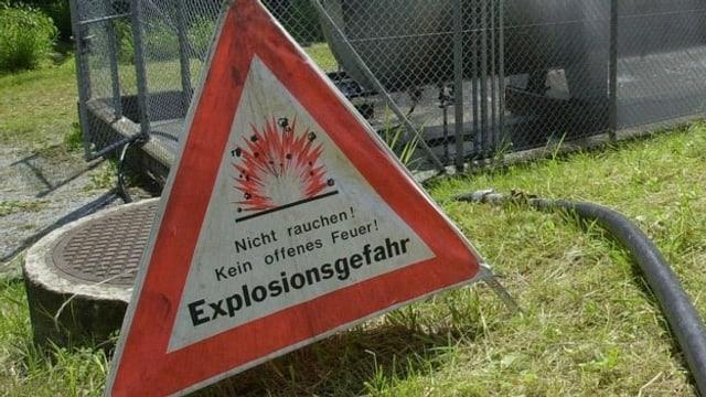Warnschild: Explosionsgefahr