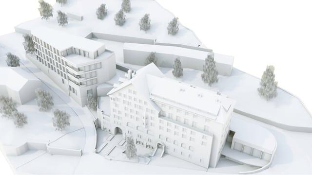 Model dal project hotel Margna a San Murezzan