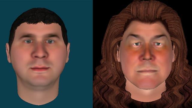 Zwei Avatare, die von Studienteilnehmer kreiert wurden.