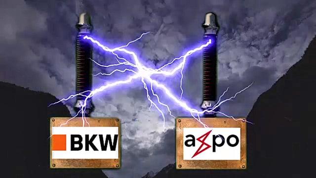 BKW, Axpo und Stromfunken.