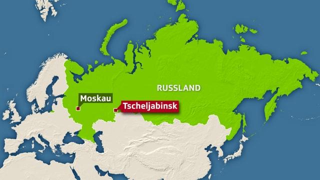 Karte Tscheljabinsk