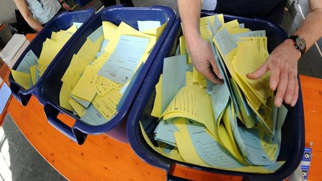 Wahlzettel Zürich