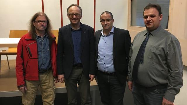 Guido Dietrich, Ursin Fetz, Sievi Sgier, Clau Schlosser (da sen.)