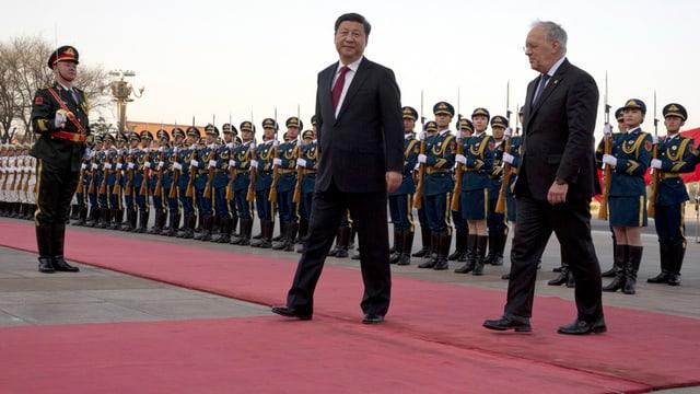 Xi Jinping bei einem Staatsbesuch 2016.