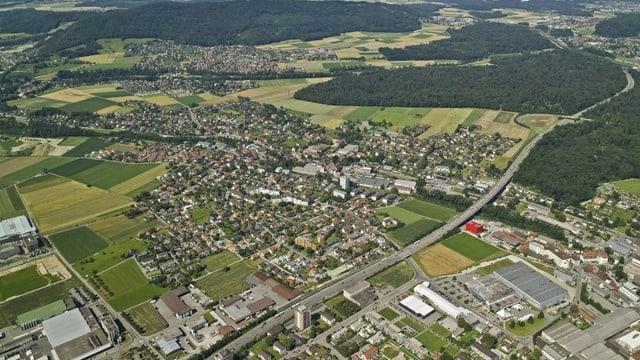 Luftaufnahme von Niederlenz