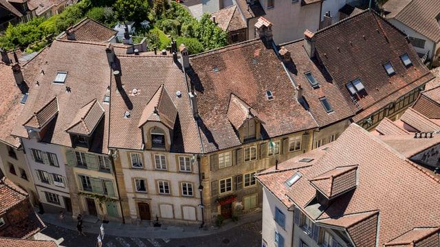 Hausdächer Estavayer