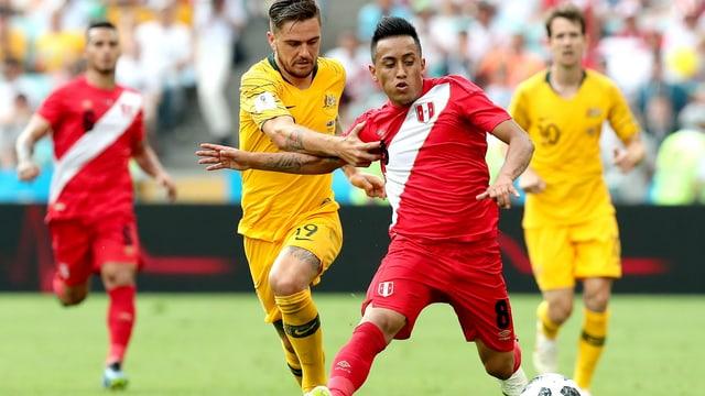 Peru gudogna cunter l'Australia cun 2:0.