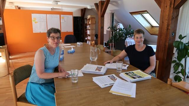 Die Projektleiterinnen, die aus dem Kloster ein Betreuungsangebot für Demenzkranke machen wollen: Edith Kaufmann (links) und Luzia Hafner.