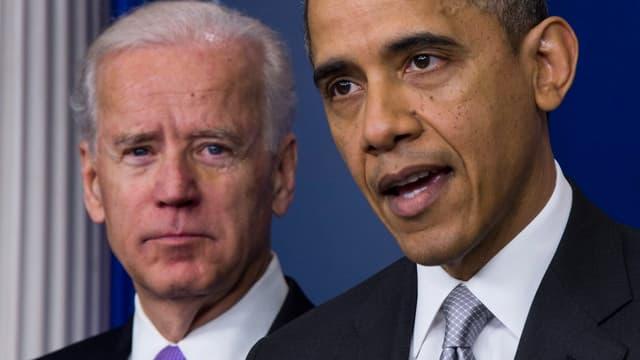 In den USA hat Präsident Barack Obama (r.) seinen Stellvertreter Joe Biden zum Vorsitzenden einer Arbeitsgruppe ernannt.