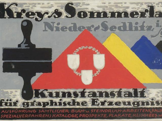 Werbeplakat aus den 20er Jahren