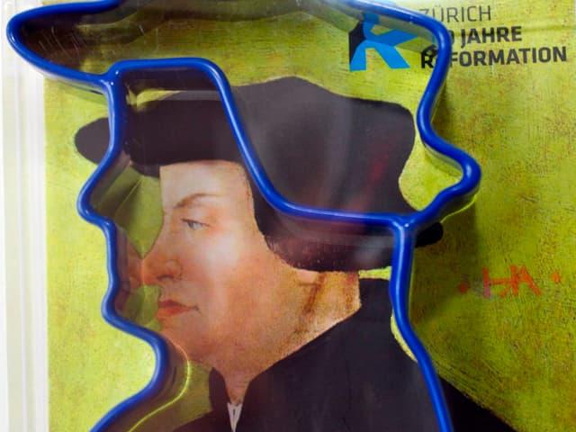 Reformator Zwingli in Form einer Backform