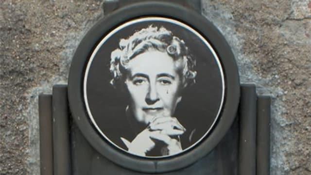 Gedenktafel für Agatha Christie.