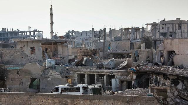 Kobane, zertrümmerte Häuser.