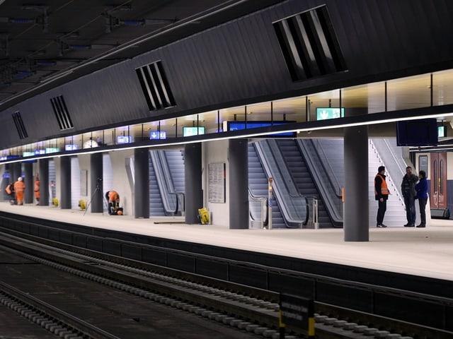 Der neue Bahnhof Löwenstrasse in Zürich