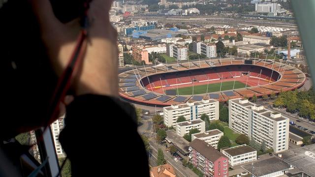 Bild von Letzigrund Stadion aus Helikopter