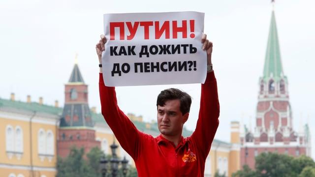 Demonstrant in Moskau