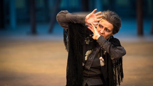 Schauspielerin im Stück «Il Trovatore»
