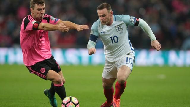 Spieler von Schottland und England