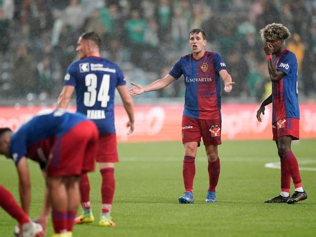 Die Spieler des FC Basel am Donnerstagabend.