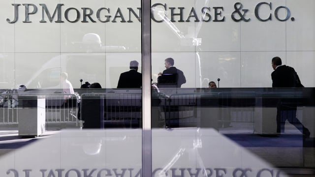 """Schriftzug """"J.P. Morgan Chase and co."""""""