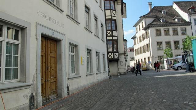 Das Schaffhauser Gerichtsgebäude von Aussen