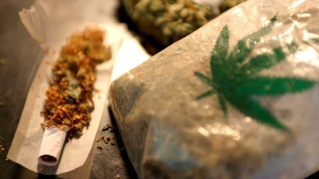 Marihuana und ein Joint.