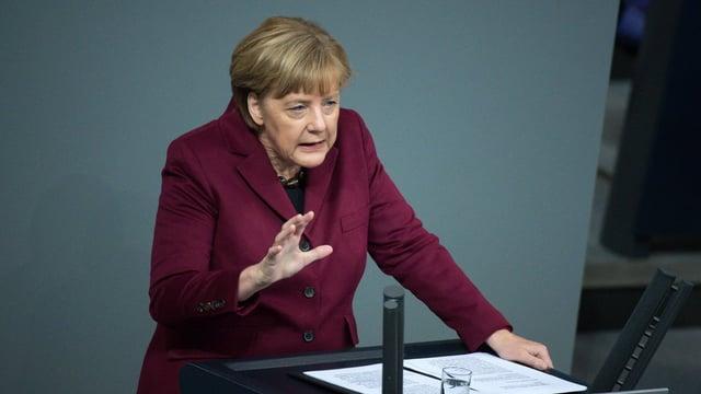 La chanceliera tudestga Angela Merkel.