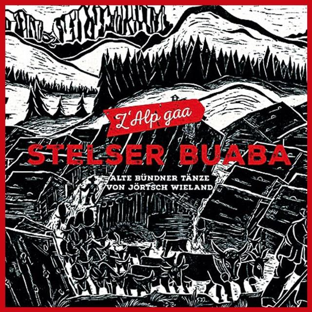 CD-Cover mit einer Schwarz-Weiss Zeichnung von einem Alpaufzug.