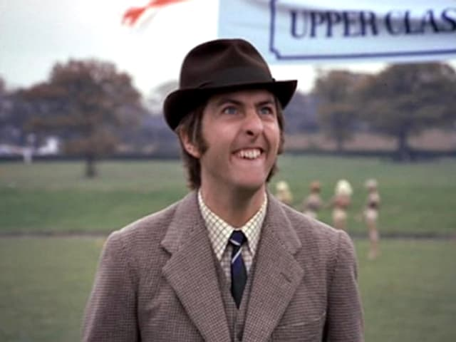 Eric Idle in einem Sketch der Monty-Python-Fernsehshow.