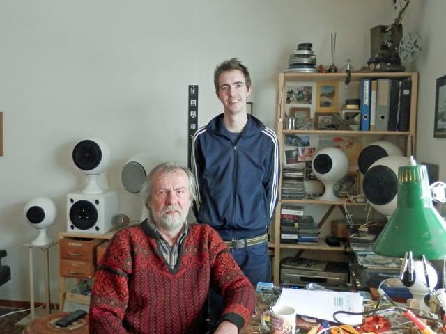 Victor Alther und sein Sohn Gabriel.