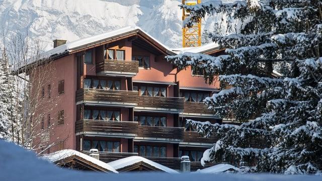 Verschneites Hotel Rustico