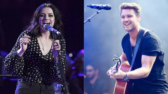 Je ein Bild der Sängerin Amy Macdonald und des Sängers Bastian Baker.