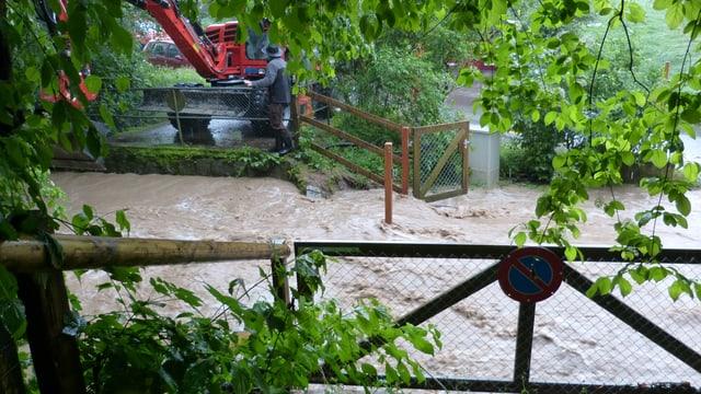 In der Nordwestschweiz, wie hier in Pratteln, gab es am Mittwoch Überschwemmungen.