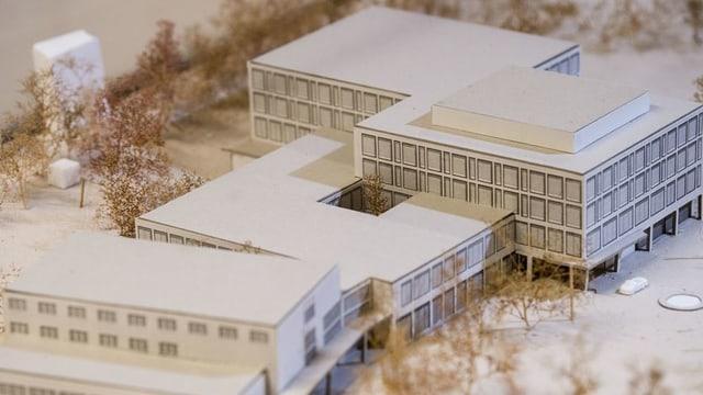Modell des Spitalareals
