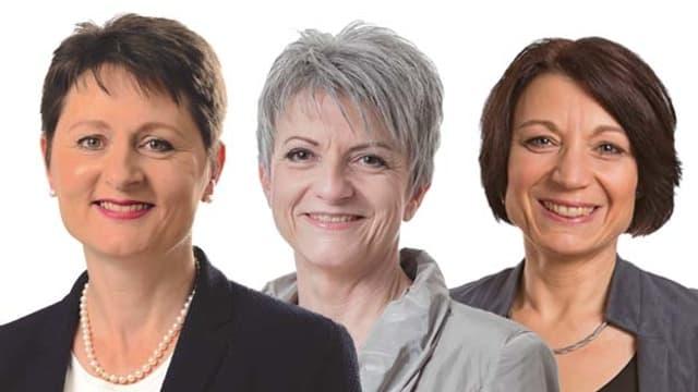 Portraits der drei Kandidierenden