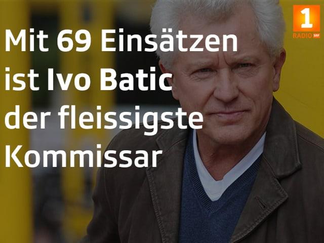 Tatort Fakt: «Mit 69 Einsätzen ist Ivo Batic der fleissigste Kommissar».