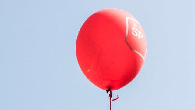 "Ballon mit Aufschrift ""SP""."