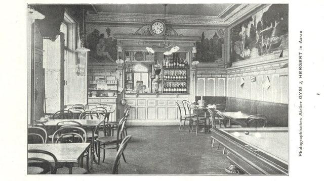 Bild des Innern des Hotels aus einer Broschüre