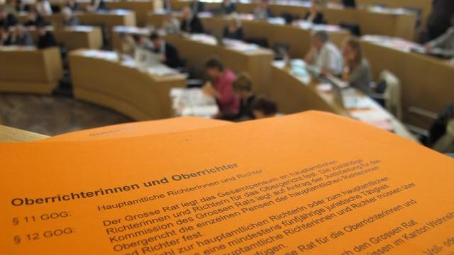 Aufnahme im Grossratssaal Aarau