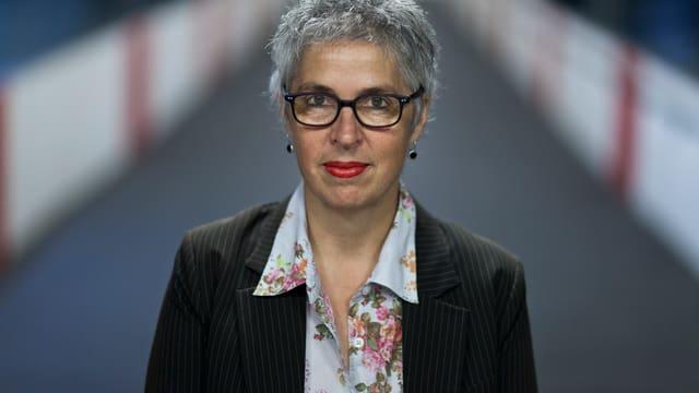 Die Schweizer Autorin Susanna Schwager am Bahnhof Zürich.