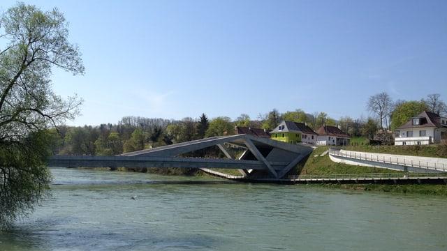 Blick auf die neue Aarebrücke und den Eingang in den Hausmatt-Tunnel.