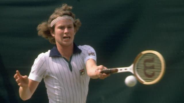 John McEnroe 1977 in Wimbledon.