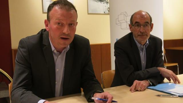 Didier Castella und Jacques Bourgeois.