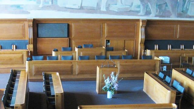 Die Sitze der Regierung im Berner Rathaus.